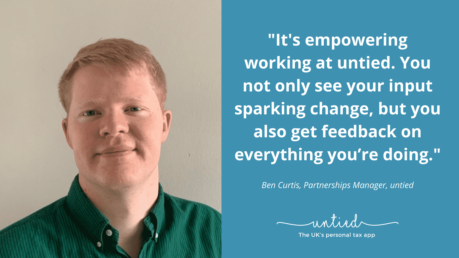 Meet the untied team – Ben Curtis, Partnerships Manager