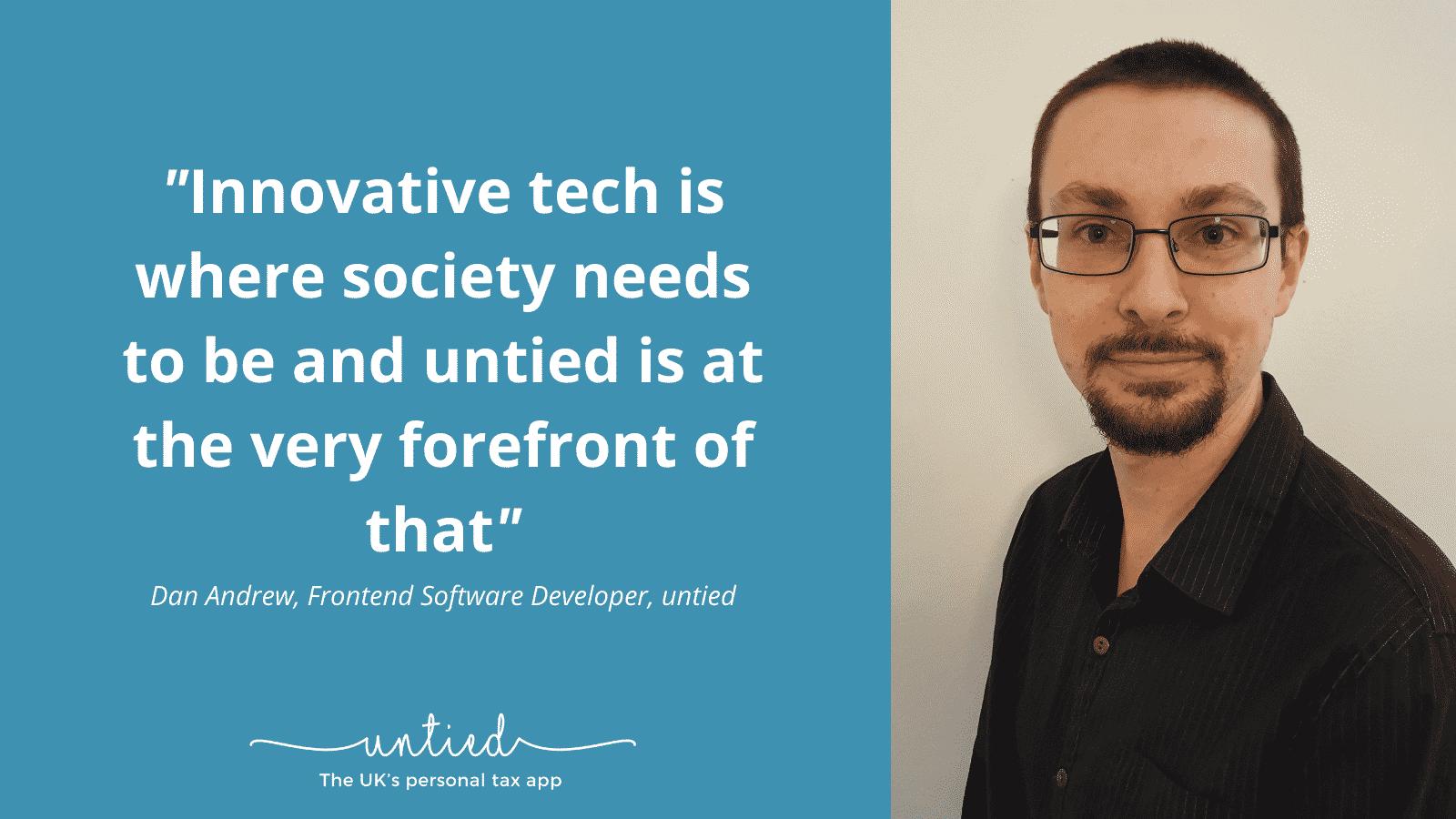 Meet the untied team – Dan Andrew, Frontend Software Engineer